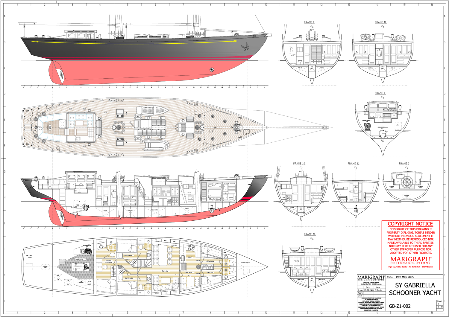 general arrangement X general arrangement general arrangement and profile plans, layouts in general primarily represent functional / utilising aspect of the vessel, showing precisely.